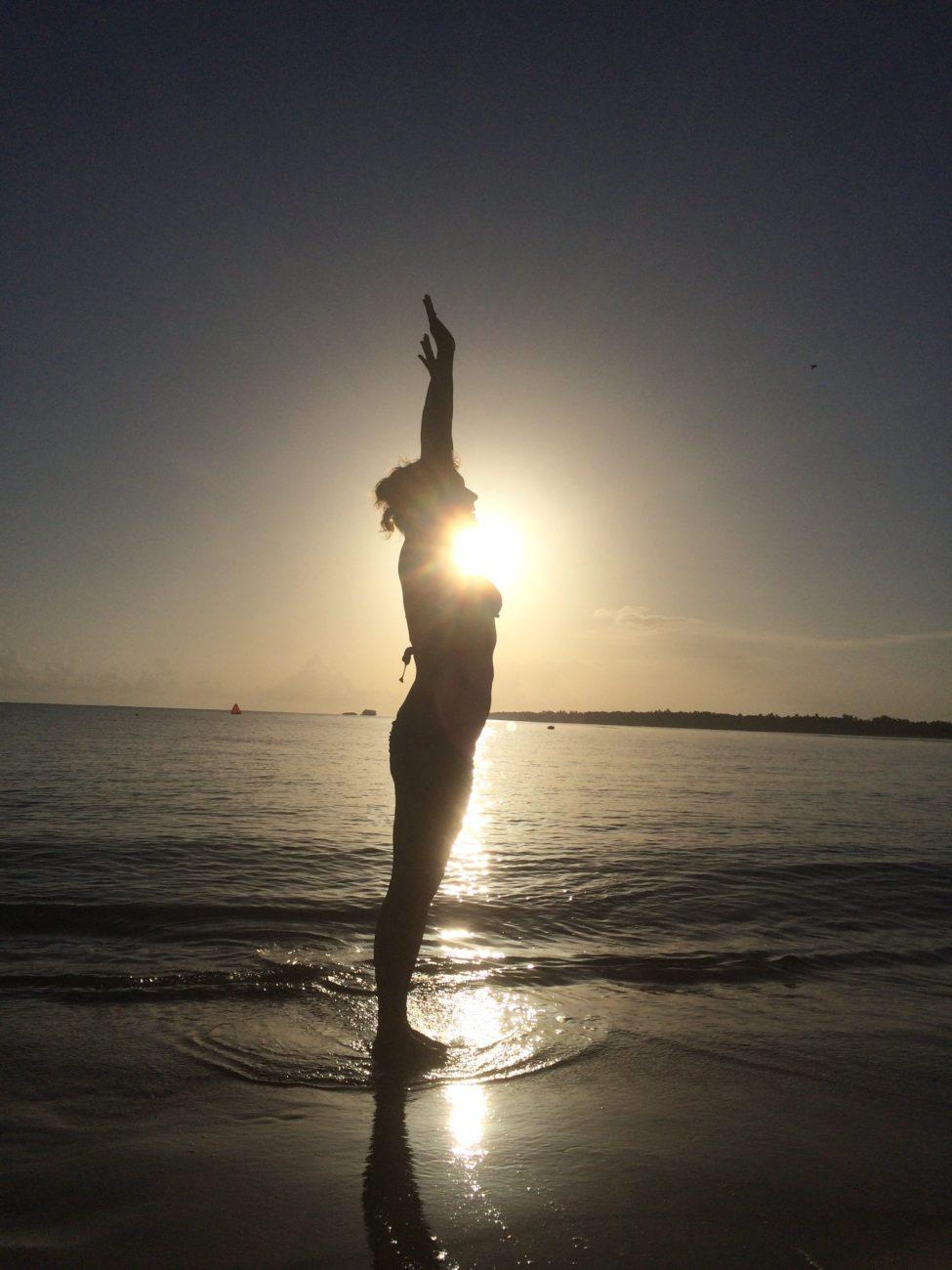Sunrise in Blue Bay, Dominican Republuc