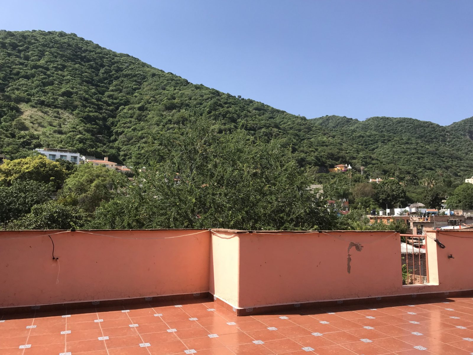 Sierra Madras from the rooftop in Ajijic